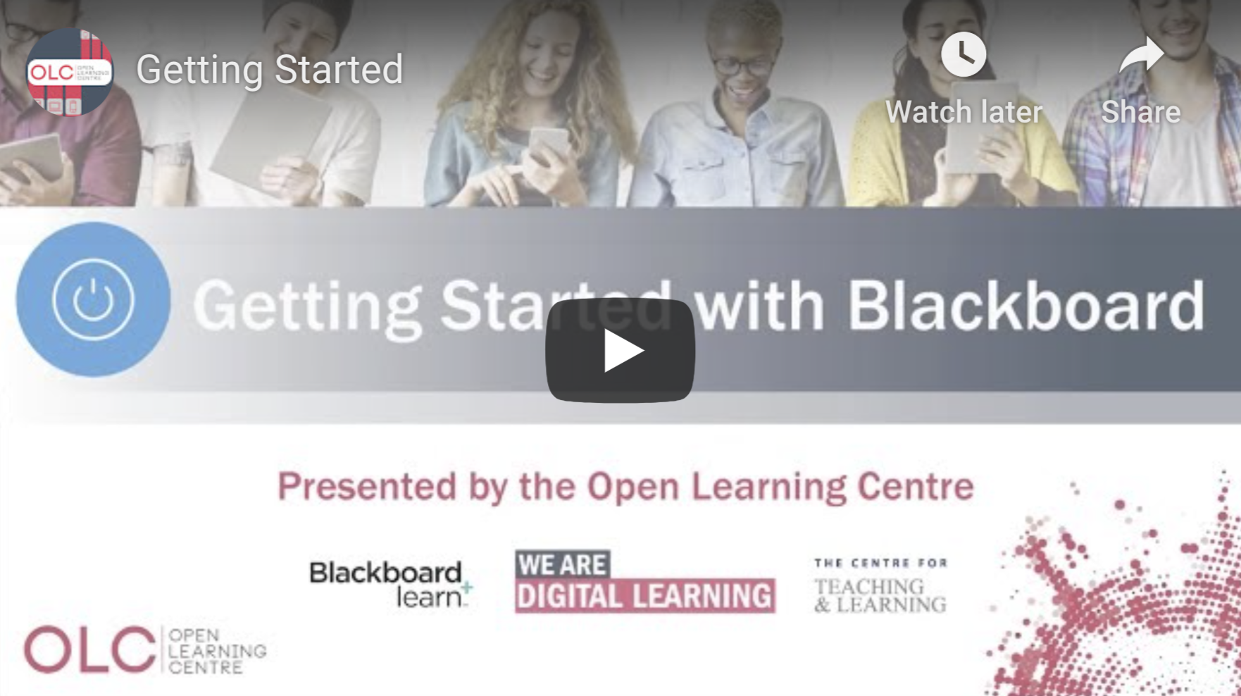 Getting Started with Blackboard - Video