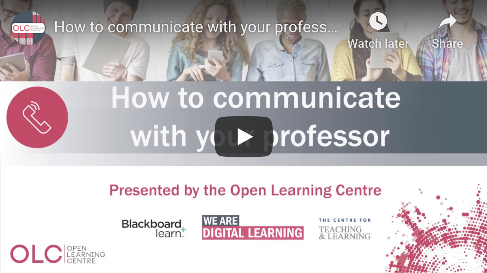How to Communicate with your professor - Video