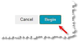 begin button screen shot