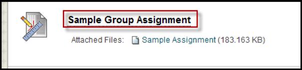 Sample Group Assignment screen shot