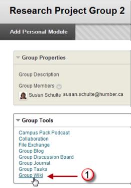 group wiki menu screen shot