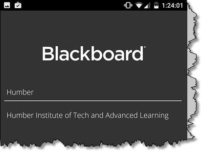 blackboard app screen shot