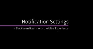 Notification Settings in Blackboard Ultra